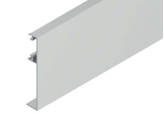 Levně Krycí klipový profil pro skleněné dveře SOLIDO 80/HELM 140 3 m Hliník nerez efekt