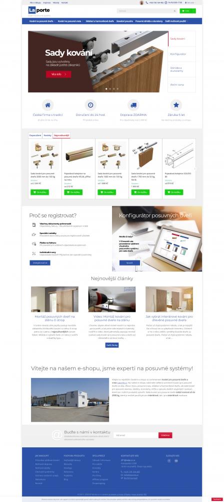 Design e-shopu Laporte.cz