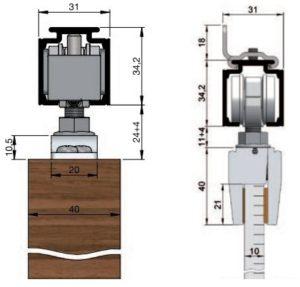 Montáž posuvných dveří do stavebního pouzdra nebo volně na stěnu či strop