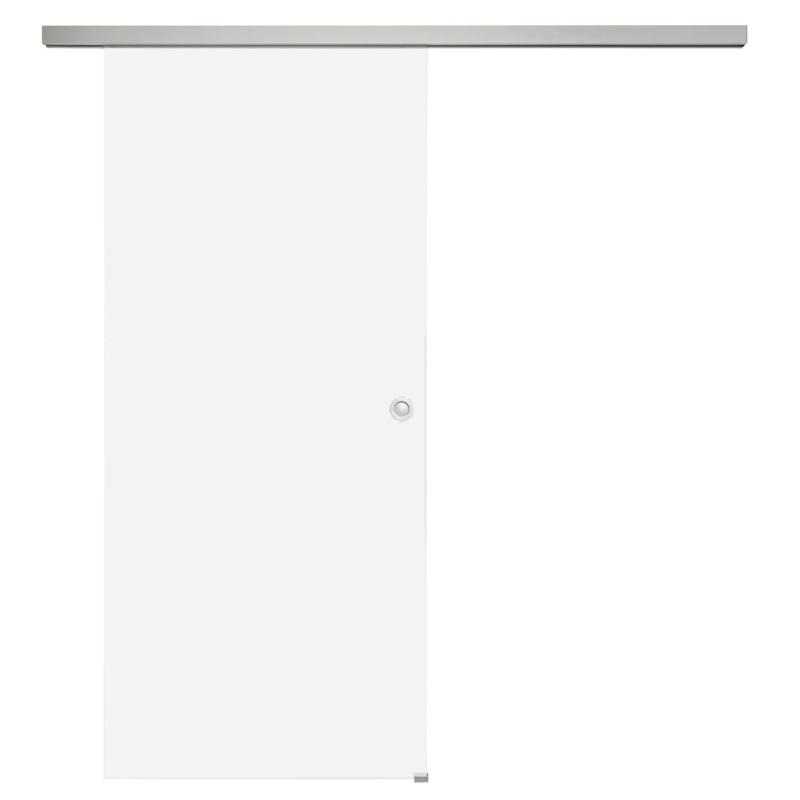 Celoskleněné posuvné dveře sada matné sklo, posuvné kování stříbrné 820 mm