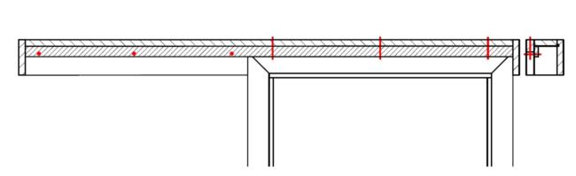 Stavební připravenost posuvných dveří na stěnu