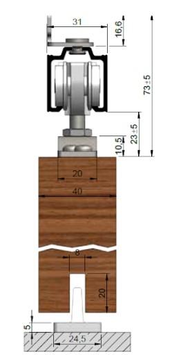 posuvné dřevěné dveře na stěnu