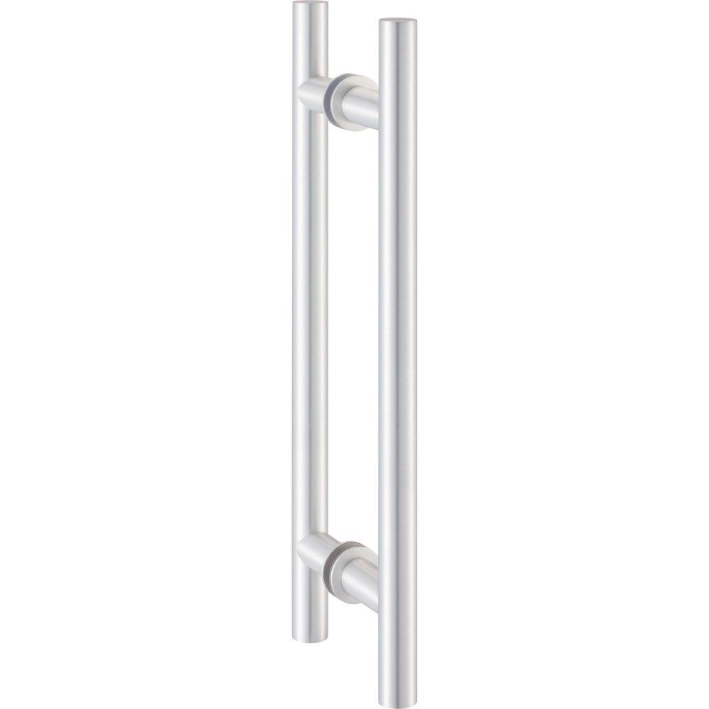 Levně Dveřní madlo KWS 8142, 350 / 250 mm, ø 20 mm, hliník stříbrný elox