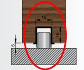 vodící U profil a podlahové vedení bez vůle