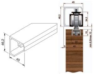 Montážní profil Solido 80