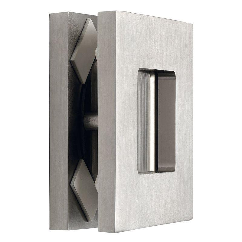 Mušle pro posuvné skleněné dveře 6405 hranatá, tl. skla 8 - 10 mm, stříbrný elox