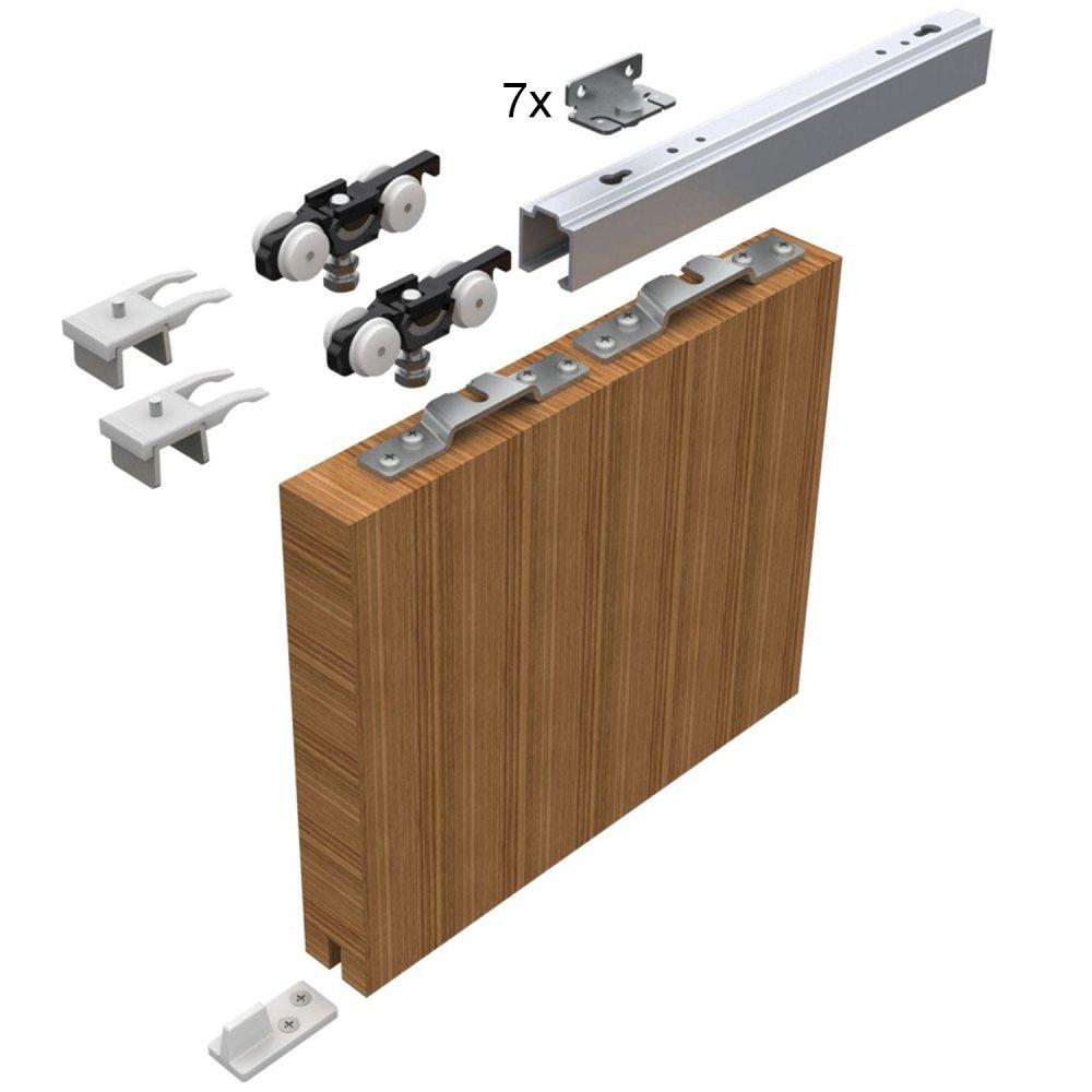 Sada kování pro posuvné dveře 2100 mm do 50 kg
