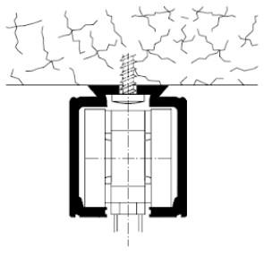 uchycení posuvných dveří na strop Laporte